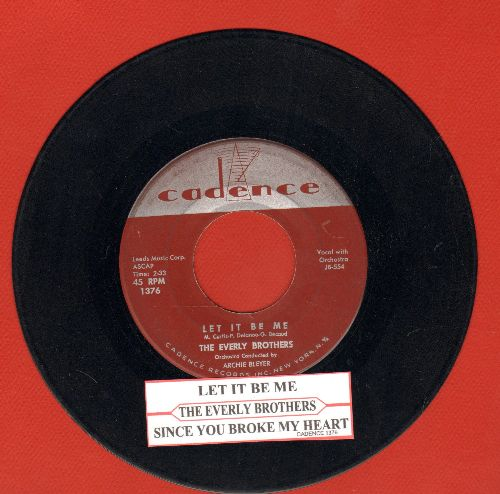 Everly Brothers - Let It Be Me/Since You Broke My Heart (with juke box label) - VG7/ - 45 rpm Records
