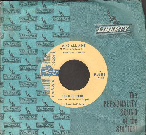 Little Eddie - Mine All Mine/Look No More (DJ advance pressing, MINT condition vinyl with vintage Liberty company sleeve) - M10/ - 45 rpm Records
