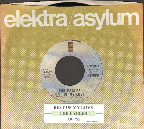 Eagles - Best Of My Love/Ol'55 (with juke box label and Elektra company sleeve) - EX8/ - 45 rpm Records