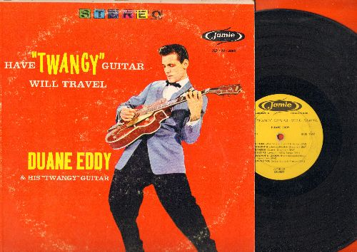 Eddy, Duane - Have Twangy Guitar Will Travel: Detour, Ram Rod, Lonesome Road, Rebel-Rouser (Vinyl STEREO LP record, red cover) - VG7/VG6 - LP Records