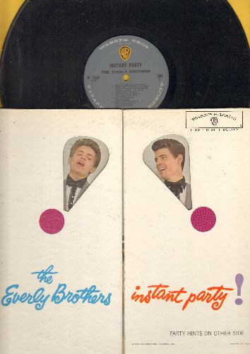 Everly Brothers - Instant Party!: True Love, Bye Bye Blackbird, Oh! My Pa-Pa, Trouble In Mind, The Party's Over, Ground Hawg (Vinyl MONO Lprecord, unique folding cover) - NM9/EX8 - LP Records
