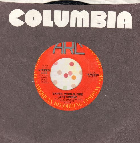 Earth, Wind & Fire - Let's Groove (DANCE CLUB FAVORITE!)/Let's Groove (Instrumental) (with juke box label and Columbia company sleeve) - NM9/ - 45 rpm Records