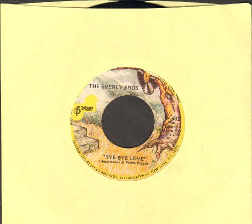 Everly Brothers - Bye Bye Love/I Wonder If I Care As Much (double-hit re-issue) - VG7/ - 45 rpm Records