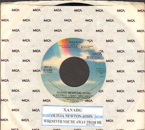Newton-John, Olivia - Xanadu/Whenever You're Away From Me (with MCA company sleeve and juke box label) - VG7/ - 45 rpm Records