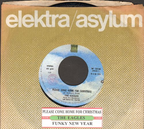 Eagles - Please Come Home For Christmas/Funky New Year (Italian pressing with juke box label and company sleeve) - NM9/ - 45 rpm Records