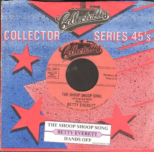 Everett, Betty - The Shoop Shoop Song (It's In His Kiss)/Hands Off (re-issue with juk box label and company sleeve) - NM9/ - 45 rpm Records