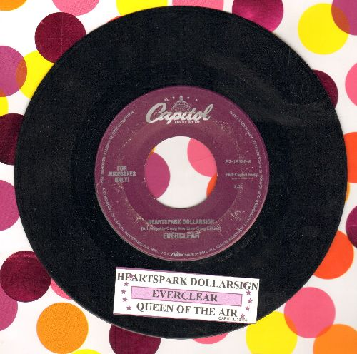 Everclear - Heartspark/Queen Of The Air (DJ pressing with juke box label) - EX8/ - 45 rpm Records