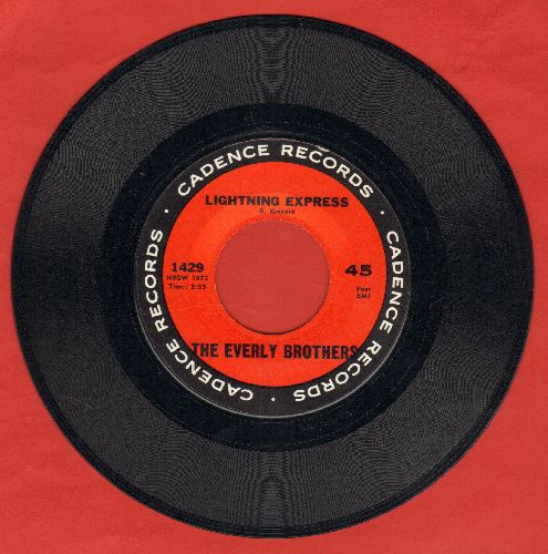 Everly Brothers - Lightning Express/I'm Here To Get My Baby Out Of Jail - NM9/ - 45 rpm Records