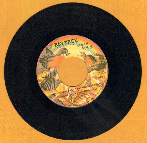 England Dan & John Ford Coley - I'd Really Love To See You Tonight/Calling For You Again - NM9/ - 45 rpm Records