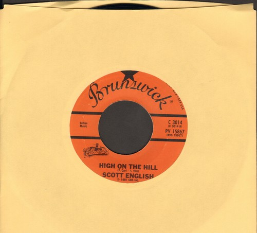 English, Scott - High On The Hill/Louie, Louie (by The Kingsmen on flip-side) (re-issue of vintage recordings) - NM9/ - 45 rpm Records