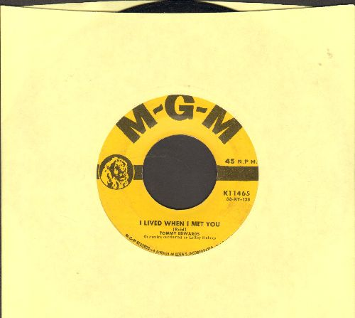 Edwards, Tommy - I Lived When I Met You/Au Revoir - VG7/ - 45 rpm Records
