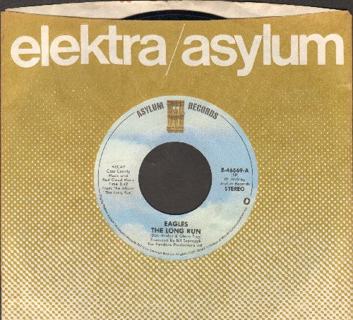 Eagles - The Long Run/The Disco Strangler (with juke box label and company sleeve) - EX8/ - 45 rpm Records