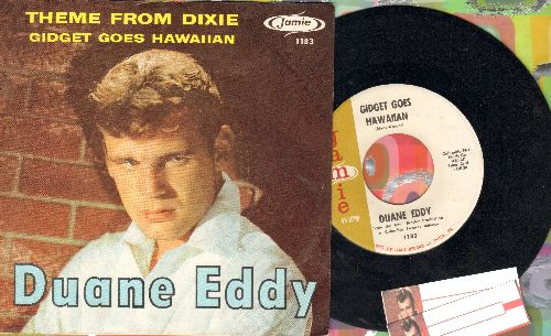 Eddy, Duane - Gidget Goes Hawaiian/Theme From Dixie (with picture sleeve) - EX8/NM9 - 45 rpm Records