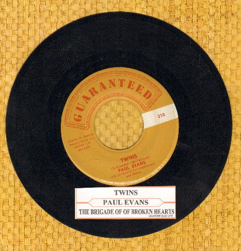 Evans, Paul - Twins/The Bridge Of Broken Hearts (with juke box label) - EX8/ - 45 rpm Records
