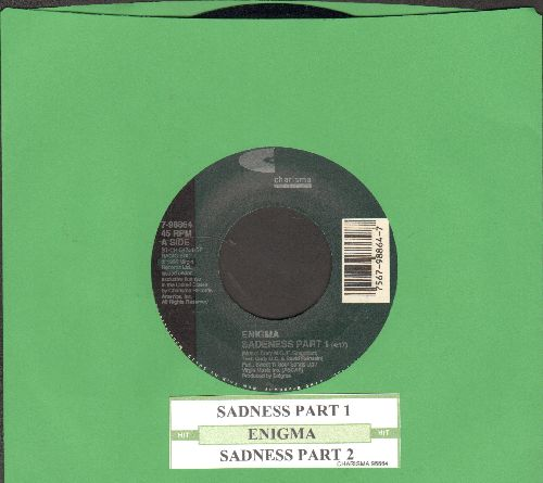Enigma - Sadness Part 1 (Radio Edit and Meditation Mix (with juke box label) - NM9/ - 45 rpm Records