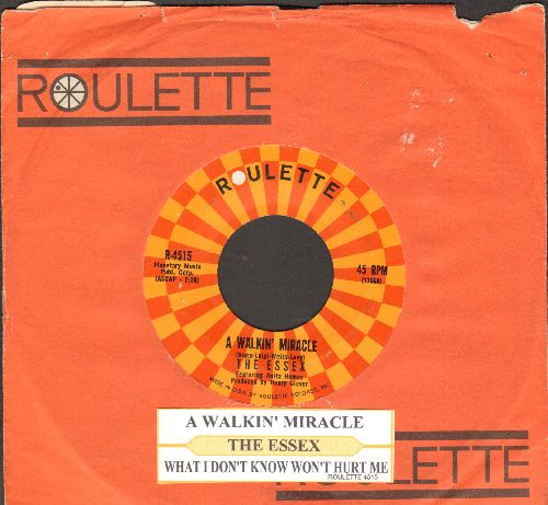 Essex - A Walking Miracle/What I Don't Know Won't Hurt Me (with juke box label and Roulette company sleeve)  - NM9/ - 45 rpm Records