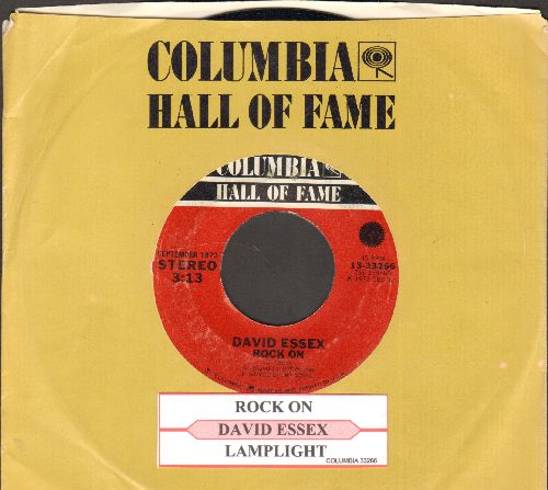 Essex, David - Rock On (Bang A Gong)/Lamplight (double-hit re-issue with juke box label and company sleeve) - NM9/ - 45 rpm Records