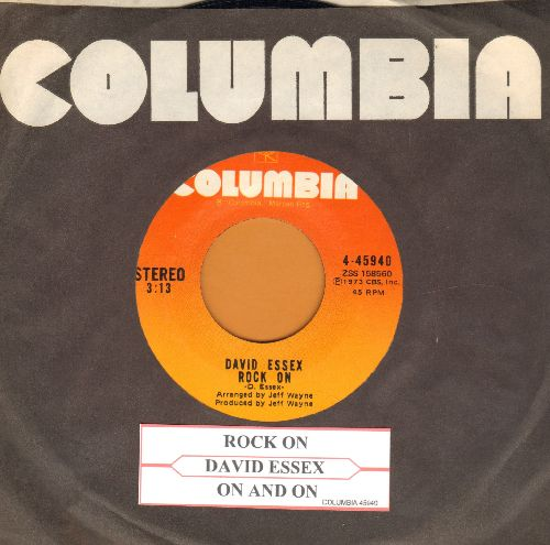 Essex, David - Rock On (Bang A Gong)/On And On (with juke box label and Columbia company sleeve) - NM9/ - 45 rpm Records