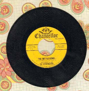 Exterminators - The Beetle Bomb (RARE Novelty about The Beatles taking over US Charts!)/Stomp 'Em Out - EX8/ - 45 rpm Records