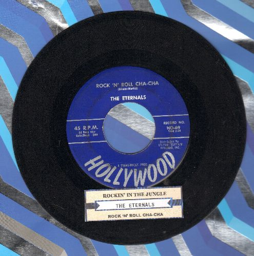 Eternals - Rockin' In The Jungle/Rock 'N' Roll Cha Cha (blue label first pressing with juke box label) - EX8/ - 45 rpm Records
