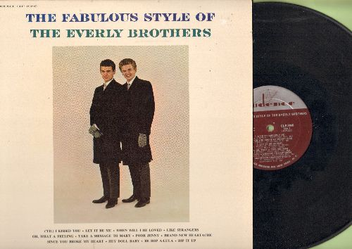 Everly Brothers - The Fabulous Style Of: Let It Be Me, When Will I Be Loved, Be Bop A-Lula, ('Til) I Kissed You, Rip It Up (vinyl MONO LP record) - EX8/NM9 - LP Records