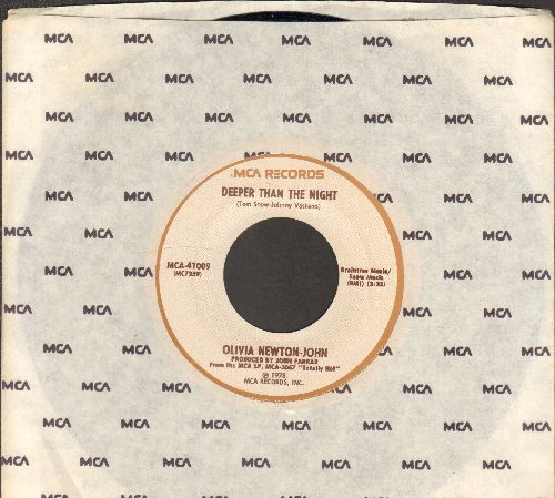Newton-John, Olivia - Deeper Than The Night/Please Don't Keep Me Waiting (MINT condition with MCA company sleeve) - M10/ - 45 rpm Records