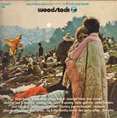 Woodstock - Woodstock - Music from the Original Soundtrack and more (3 vinyl STEREO LP records in gate-fold cover) - VG6/VG7 - LP Records