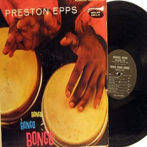 Epps, Preston - Bongo Bongo Bongo: Jungle Drums, Doin' The Cha Cha Cha, Call Of The Jungle (Vinyl MONO LP record) - VG7/VG6 - LP Records