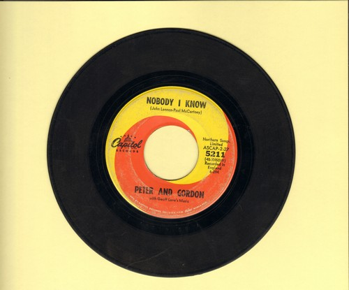 Peter & Gordon - Nobody I Know/You Don't Have To Tell Me  - VG7/ - 45 rpm Records