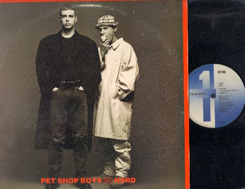 Pet Shop Boys - So Hard (6:30 Extended Dance Mix/3:56 Single Version/7:30 Dub Mix), It Must Be Obvious (4:21) (12 inch vinyl Maxi Single) - EX8/EX8 - Maxi Singles
