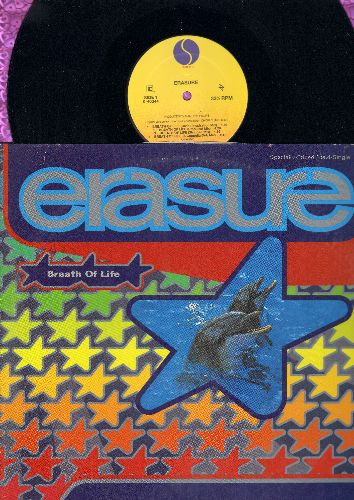 Erasure - Breath Of Life (12 inch vinyl Maxi Single featuring 8 Extended Dance Club Mixes, with picture cover) - NM9/EX8 - LP Records