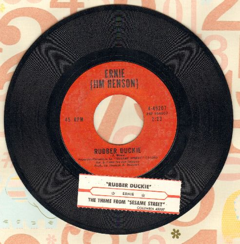 Ernie (Jim Henson) - Rubber Duckie/Sesame Street (with juke box label) - NM9/ - 45 rpm Records