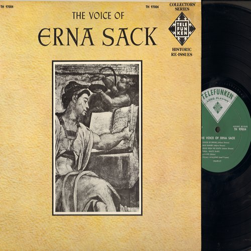Sack, Erna - The Voice Of Erna Sack: Gluhwurmchen, Mein Herr Marquis, Blue Danube, Zigeunerlied (Vinyl MONO LP record, re-issue of vintage recordings, Canadian Pressing) - NM9/NM9 - LP Records