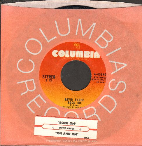 Essex, David - Rock On (Bang A Gong)/On And On (with juke box label and Columbia company sleeve) - EX8/ - 45 rpm Records