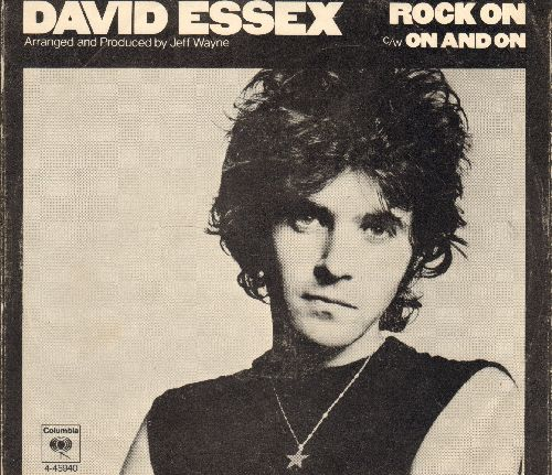 Essex, David - Rock On (Bang A Gong)/On And On (with picture sleeve) - NM9/VG7 - 45 rpm Records