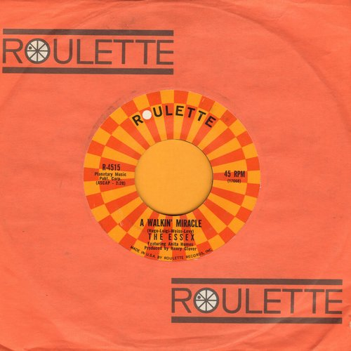 Essex - A Walking Miracle/What I Don't Know Won't Hurt Me (with Roulette company sleeve)  - NM9/ - 45 rpm Records