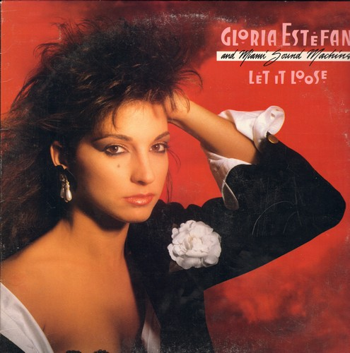 Estefan, Gloria - Let It Loose: Rhythm Is Gonna Get You, Give It Up, 1-2-3, Betcha Say That (Vinyl STEREO LP record, DJ advance pressing) - NM9/VG7 - LP Records