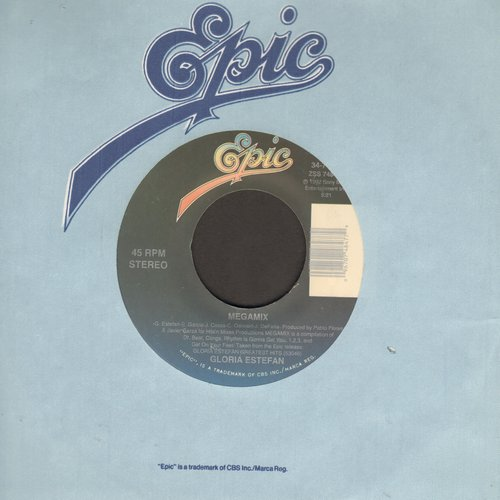 Estefan, Gloria - Megamix/I See Your Smile (with Epic company sleeve) - M10/ - 45 rpm Records