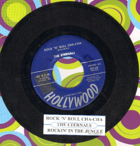 Eternals - Rockin' In The Jungle/Rock 'N' Roll Cha Cha (blue label first pressing with juke box label) - VG7/ - 45 rpm Records