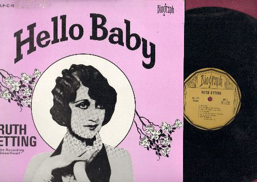 Etting, Ruth - Hello Baby: You're The Cream In My Coffee, Button Up Your Overcoat, Ain't Misbehavin', Body & Soul (vinyl LP record, 1973 issue of vintage recordings) - NM9/EX8 - LP Records