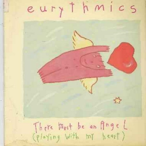 Eurythmics - There Must Be An Angel (Playing With My Heart)/Grown Up Girls (12 inch vinyl MAXI SINGLE faturing extended dance mixes - with picture cover, soc) - EX8/EX8 - Maxi Singles