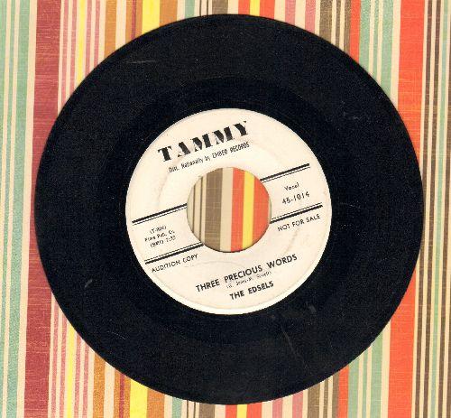 Edsels - Three Precious Words/Let's Go (RARE DJ advance pressing) - VG7/ - 45 rpm Records