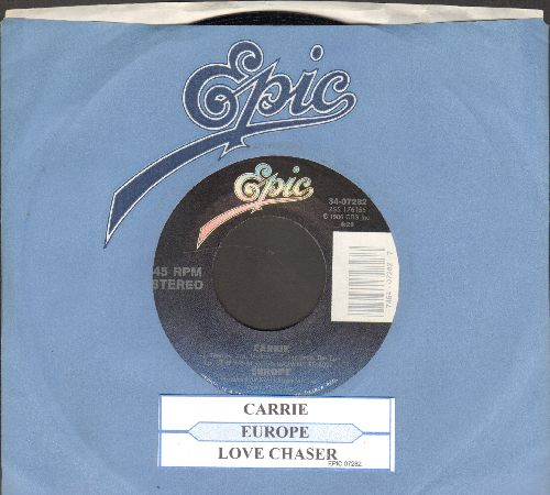 Europe - Carrie-Love Chaser (with juke box label and Epic company sleeve) - NM9/ - 45 rpm Records