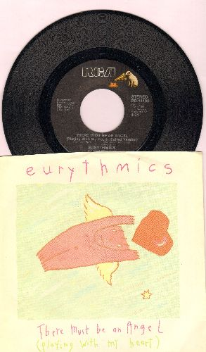 Eurythmics - There Must Be An Angel (Playing With My Heart)/Grown Up Girls (with picture sleeve) - NM9/EX8 - 45 rpm Records