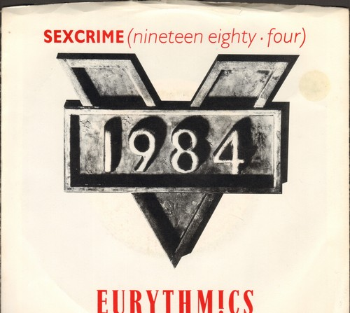 Eurythmics - Sexcrime (Nineteen Eighty Four) (double-A-sided DJ advance pessing with picture sleeve) - M10/EX8 - 45 rpm Records