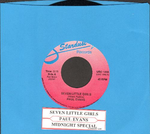 Evans, Paul - Seven Little Girls/Midnight Special (double-hit re-issue with juke box label) - NM9/ - 45 rpm Records