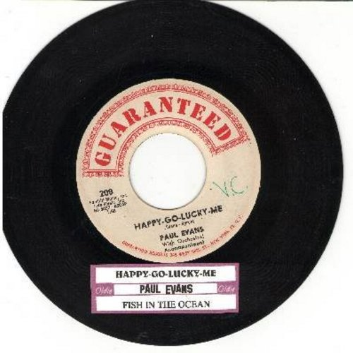 Evans, Paul - Happy-Go-Lucky-Me/Fish In The Ocean (with juke box label) - EX8/ - 45 rpm Records