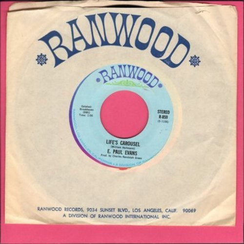 Evans, E. Paul - Life's Carousel/I'll Forget About You (with Rainwood company sleeve) - M10/ - 45 rpm Records