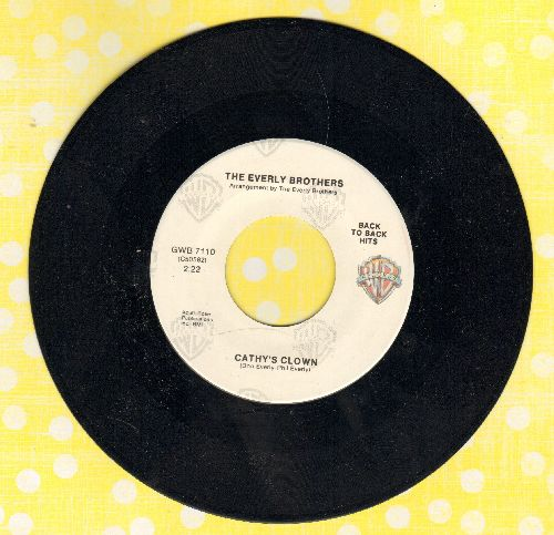 Everly Brothers - Cathy's Clown/So Sad (white label double-hit re-issue) - EX8/ - 45 rpm Records