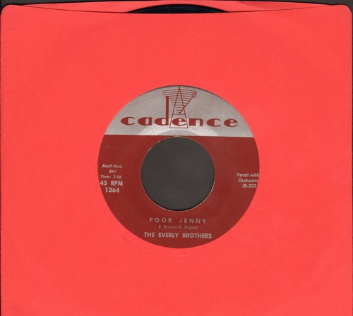 Everly Brothers - Poor Jenny/Take A Message To Mary - EX8/ - 45 rpm Records